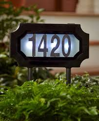 light up address sign solar address stake led hang or stake holds four numbers stake at
