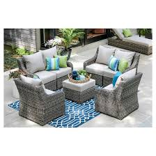 Deep Seating Patio Cherry Hill 7pc All Weather Wicker Patio Deep Seating Set Ae
