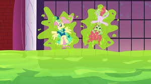 image fluttershy and tree hugger stuck to a wall s5e7 png my