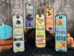 halloween bookmarks plays well with paper