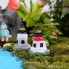 Lighthouse Garden Decor Multi Window Lighthouse Terrarium Figurines Fairy Garden Decor