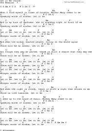light of the world chords let it be lyrics beatles song lyrics with guitar chords for let it