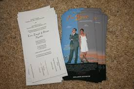 awe inspiring movie ticket wedding invitations theruntime com