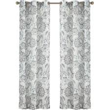Black And White Paisley Shower Curtain - paisley sheer curtains u0026 drapes you u0027ll love wayfair