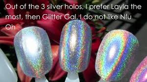 silver holographic nail polish comparisons youtube