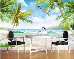 compare prices on dolphin wall murals online shopping buy low 3d custom wallpaper photo mural seaside sea dolphins picture room decoration painting 3d wall murals wallpaper