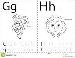 cartoon grapes and hedgehog alphabet tracing worksheet writing