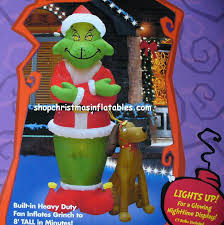grinch with max airblown inflatables