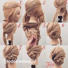 tutorial mengikat rambut kepang 15 cara mengikat rambut panjang mudah dan simple step tutorial