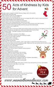 an alternative advent calendar acts of kindness by kids mum in