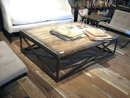 furniture weathered coffee table reclaimed wood square coffee