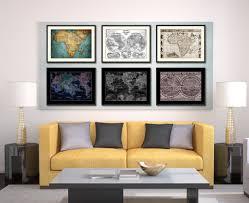 africa vintage sepia map home decor wall art bedroom liviingroom
