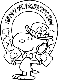 beachy st patrick snoopy all saint day coloring page wecoloringpage