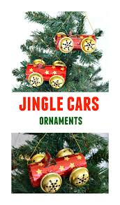 recycled ornament crafts cute jingle cars homemade ornaments