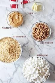 ingredients to make peanut butter rice krispie treats great