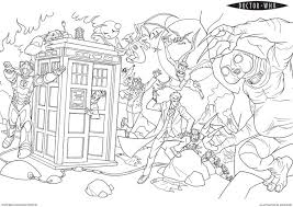 tardis coloring page 100 images doctor who coloring page