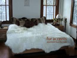 cheap large white faux fur rug find large white faux fur rug