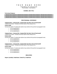 Resume Paragraph Format Keyword Resume Template With Shading Resumes And Cv Templates