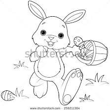vector illustration easter bunny hiding eggs stock vector 49973938