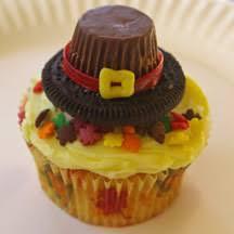 pilgrim hat cupcakes holidays pilgrim