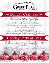 christmas craft fair 2016 greek peak mountain resort