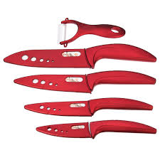 Red Kitchen Knives by Kcasa Kc Kf4 5 Pieces Multi Function Ergonomic Ceramic Knife Sets