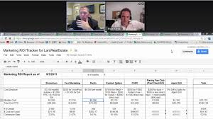 Real Estate Spreadsheet Templates by Webinar Spreadsheets And Roi Reports To Run Your Real Estate