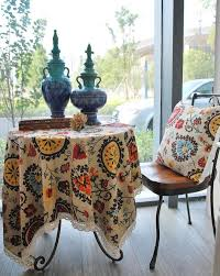 normal thickness table cloth 2014 bohemian style high quality