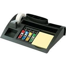 Post It Desk Organizer Post It Desktop Organizer 10 25 X 6 75 X 2 75 Black Quill