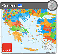 greece map political free political simple map of greece