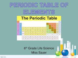 periodic table 6th grade 6th grade life science miss sauer ppt download
