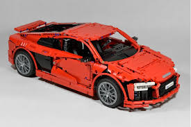 second generation audi r8 lego moc 4463 audi r8 v10 second generation technic 2016