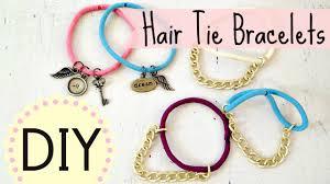 diy bracelet elastic images Diy hair tie bracelets easy by michele baratta jpg