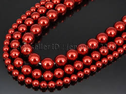 round beads necklace images Non magnetic metallic red hematite gemstone round beads strand 6mm jpg