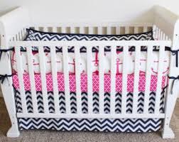 nautical crib bedding set pink anchor navy u0026 white