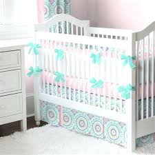 aqua baby crib rail cover cross stitch carousel designs with