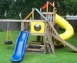 Backyard Playground Slides by Tire Swing Kit For Backyard Playground Equipment Upgrade