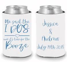 wedding can koozies personalized wedding koozies and custom can coolers for your big day