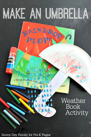 make an umbrella weather activity counting activities