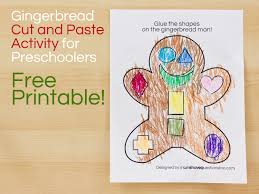 printable preschool cutting activities gingerbread man cut and paste preschool activity moms have