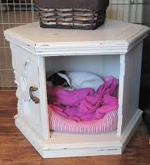Refurbished End Tables by Side Table Dog Bed Hide Out Made With Diy Chalk Paint Home