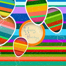 birthday card background colorful lame balloons decoration free