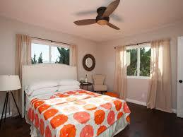 mid century bedroom colors light brown oak wood platform bed blue