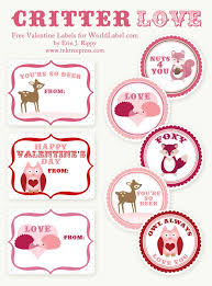 printable stickers valentines free diy printable valentines and labels critter love ink tree press