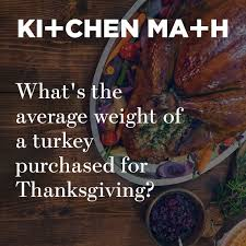 ge appliances on what s the average weight of a turkey