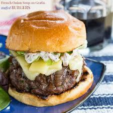 french onion soup au gratin stuffed burgers cupcakes u0026 kale chips