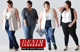 dresses for apple shape apple shaped plus size denim lookbook and style of