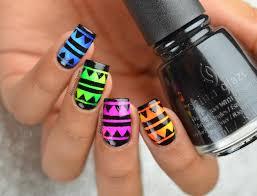 bright summer aztec nail art lifeisnails