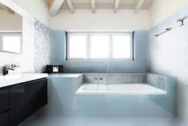 bathroom cozy bathtub with nemo tile and rain shower for modern