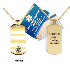 allergies to titanium allergic to iodine anodized titanium alert dog tag